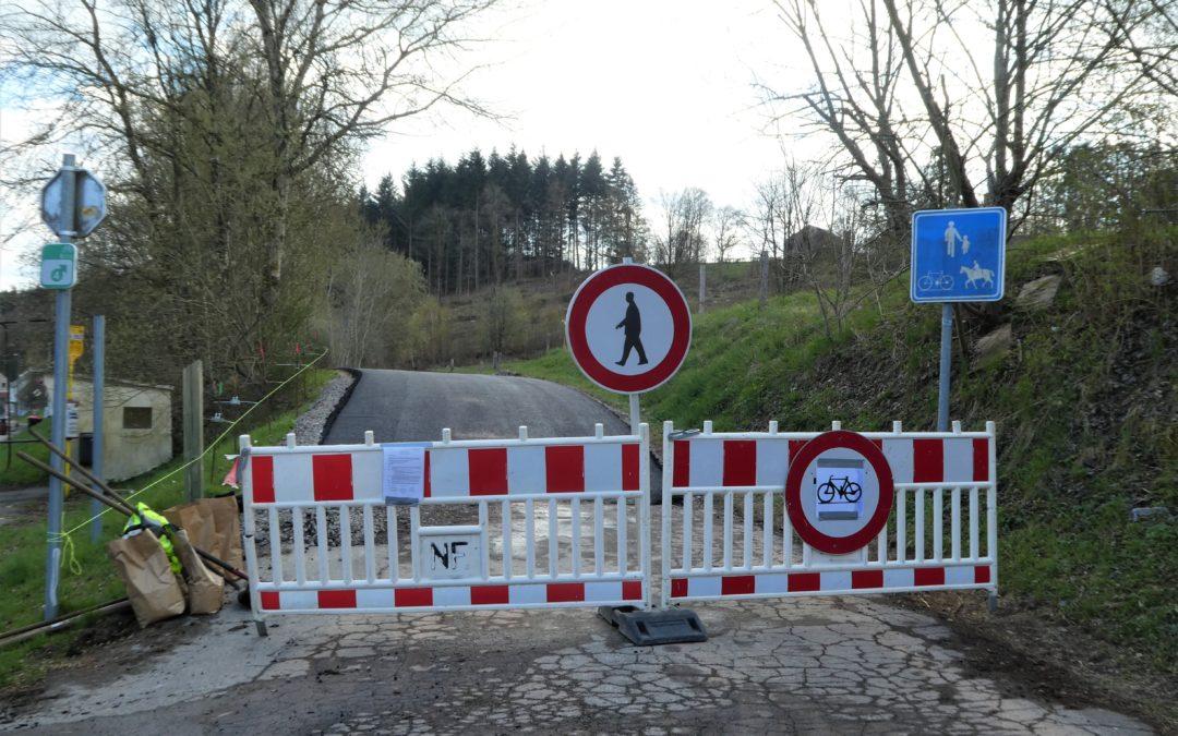 Inondations en Wallonie : le RAVeL inaccessible sur plusieurs tronçons